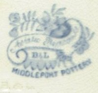 Pottery Marks,Burgess & Leigh,Middleport