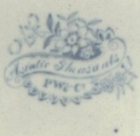 Cartouche mark of Podmore Walker & Co